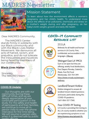 2020 MADRES Newsletter Q3